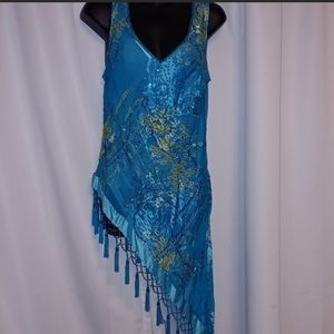 Cache blouse with sequins size 12